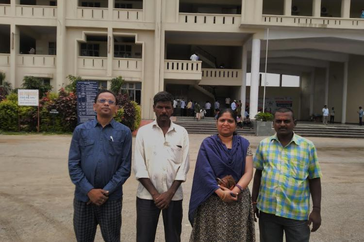 Before Medak Collectorate after submitting Vaddera ST demand Memorandum